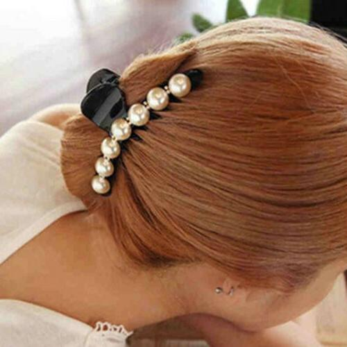 Women Pearl Clear Jaw Clamp Accessories