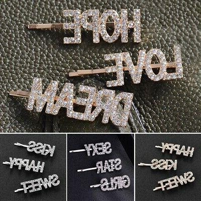 Barrette Letter Crystal Accessories
