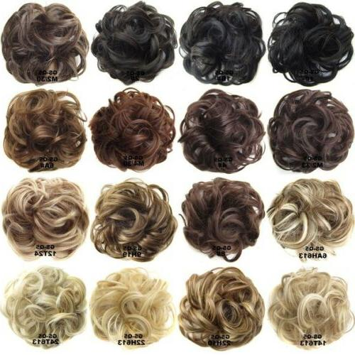 Women Pony Tail Messy Hair Extension Bun Hairpiece