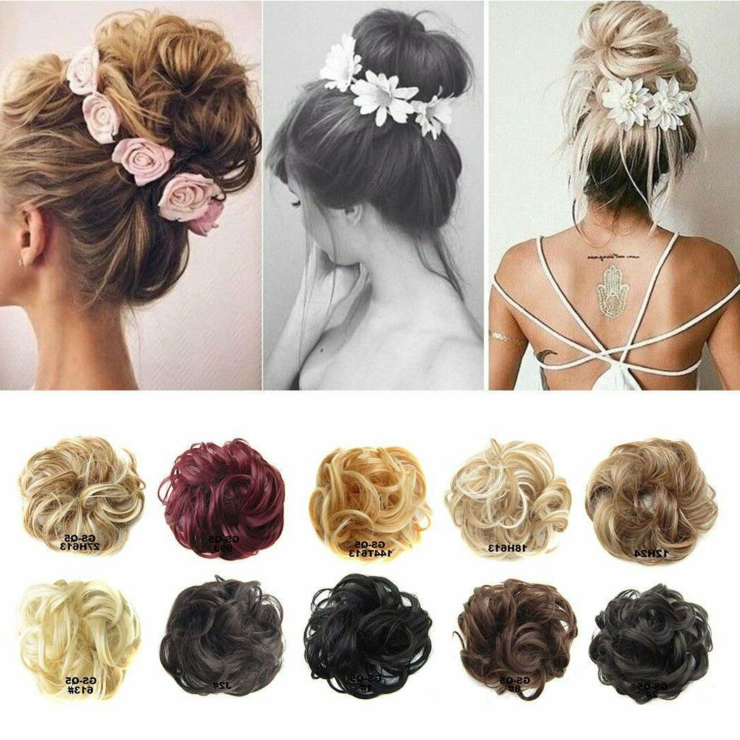 Women Ladies Pony Messy Extension Hairpiece Scrunchie