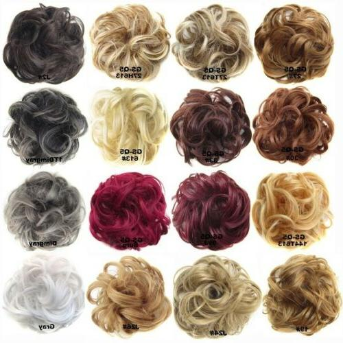 Women Pony Messy Hair Extension Scrunchie