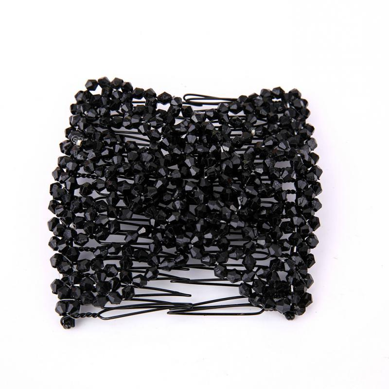 Women Pearl Beads Elastic <font><b>Hair</b></font> Combs Magic <font><b>Hair</b></font> <font><b>Hair</b></font> <font><b>Clip</b></font>
