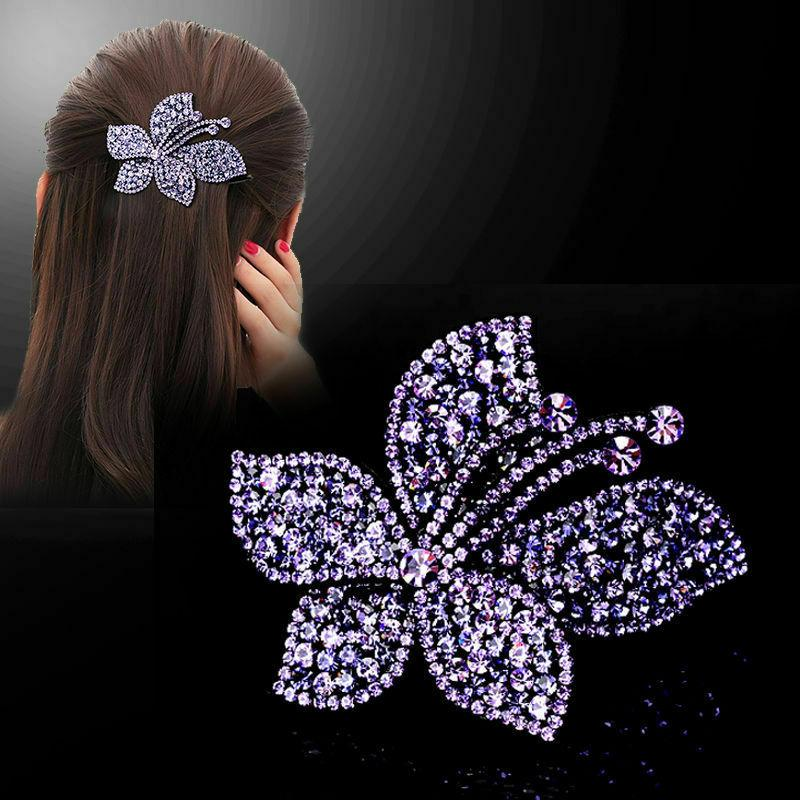 Women's Hair Clips Slide Hairpin Flower Comb Butterfly Accessories