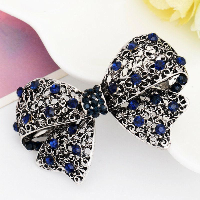 Women's Crystal Rhinestone Hair Barrette Hairpin Clips Accessories