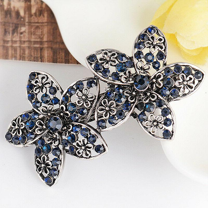 Women's Crystal Rhinestone Hair Pin Barrette Hairpin