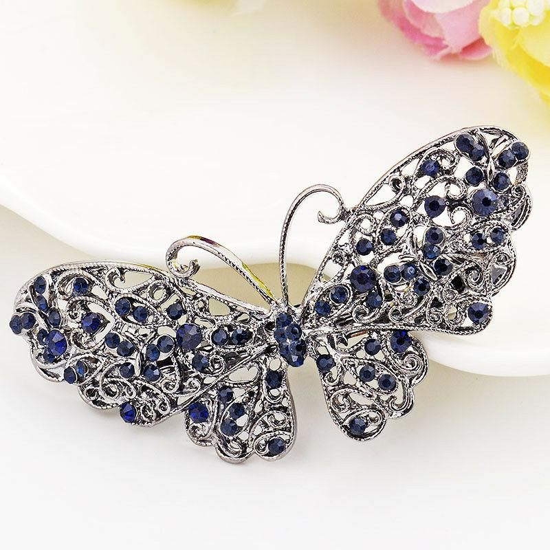Women's Crystal Hair Pin Barrette Hairpin Clips