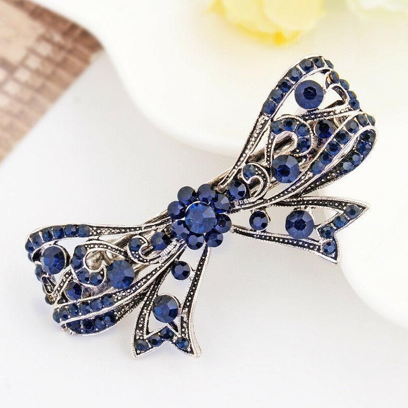 Women's Crystal Rhinestone Hair Barrette Clips