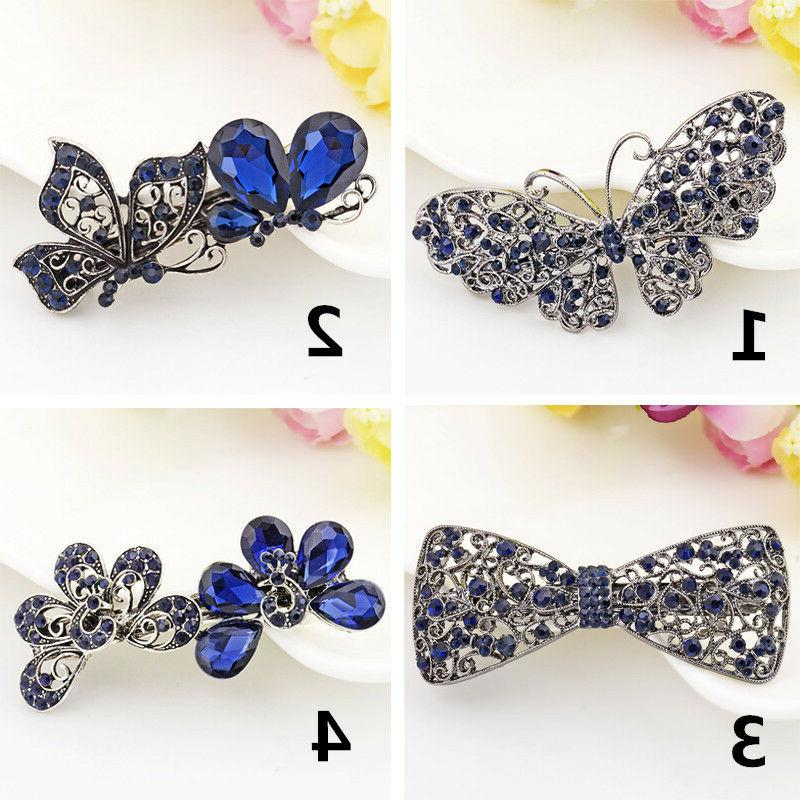Women's Crystal Clips