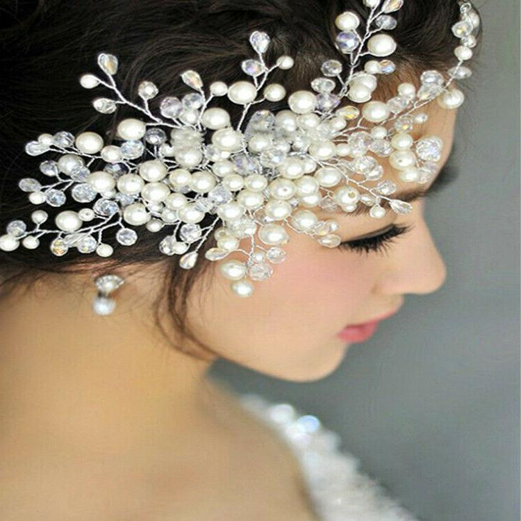 Women's Flower Hair Handmade Imitation Beaded Bridal