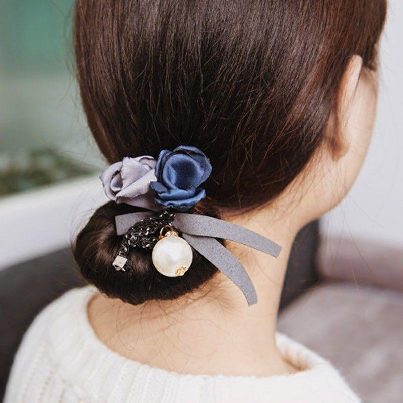 Women's Ball Ponytail Holder Hair Band Accessories