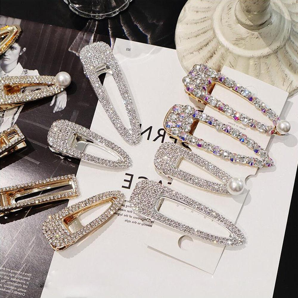 Women's Shiny Crystal Pearl Hairpin Accessories Gift