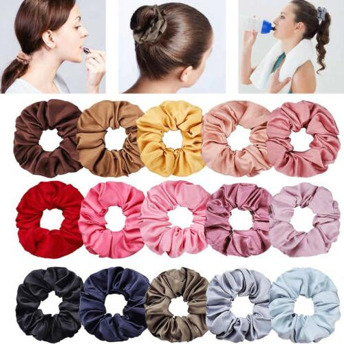 Soft Silky Hair Bands Ponytail Rope
