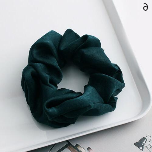 Soft Satin Solid Hair Bands Ponytail Hair Rope