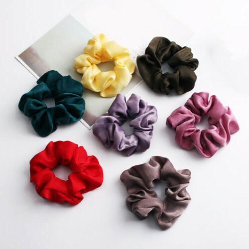Soft Silky Satin Solid Hair Bands Rope