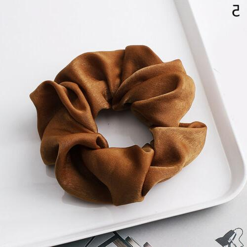 Soft Silky Solid Hair Elastic Bands Rope