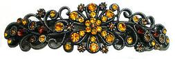 Large Hair Barrette for Thick Hair Antique Nick Color Brown