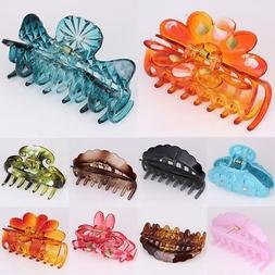 Large Women Hair Plastic Claw Clamp Clip Hairpin Banana Grip