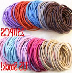 Lot Fashion Elastic Rope Women Hair Ties Ponytail Holder Hea