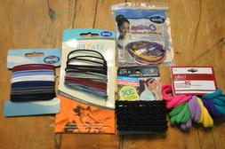 LOT OF HAIR ACCESSORIES,PONY TAIL HOLDERS,PONY SOX,SCUNCI,GO