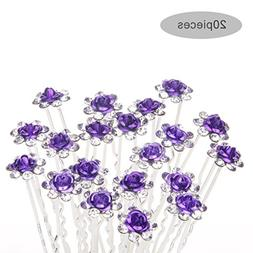 TQWY Lovely Charm 20pcs Wedding Bridal Party Diamante and Wh