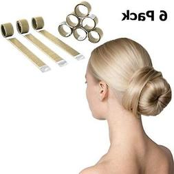 Magic Hair Bun & Crown Shapers Maker - 6 Pack Extra Strength