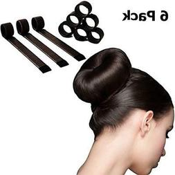 Magic Hair Bun Maker - 6 Pack Extra Strength Donut Crown Sha