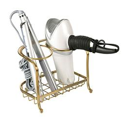 mdesign hair dryer accessory storage