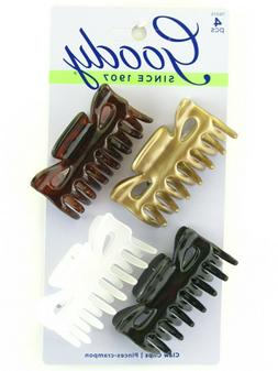 GOODY MEDIUM CLAW HAIR CLIPS - 4 PCS.