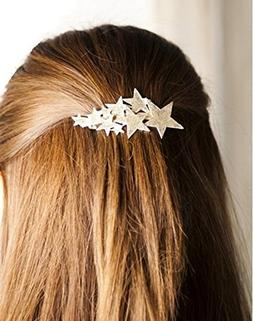 QTMY 2 PCS Metal Stars Hairpin Hair Clips Hair Accessories