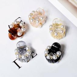 Mini 1PC Barrettes Crystal Hair Clips Hair Claw Pearl Hair A