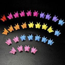 Mix Color Mini Jaw Clip Butterfly Hair Clip Claw Barrettes H