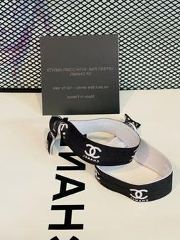 NEW Authentic Chanel Hair VIP Gift Ponytail/Hair Ties 2 PIEC