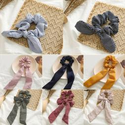 New Women Hair Ties Scrunchie Accessories Elastic Rope Bow S