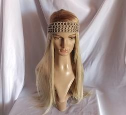 Organic cotton Gray Boho Crochet Tie Back Headband Gender ne