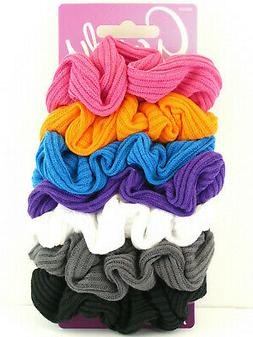 GOODY OUCHLESS BRIGHTS STRIPE WEAVE HAIR SCRUNCHIES - 7 PCS.