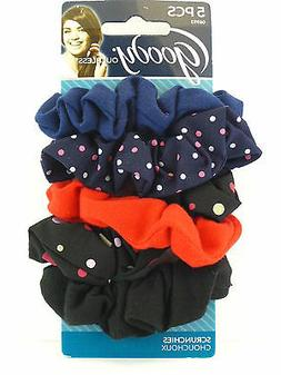 GOODY OUCHLESS POLKA DOT HAIR SCRUNCHIES - 5 PCS.