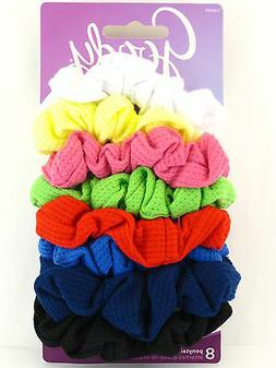 GOODY OUCHLESS RIBBED HAIR SCRUNCHIES - 8 PCS.