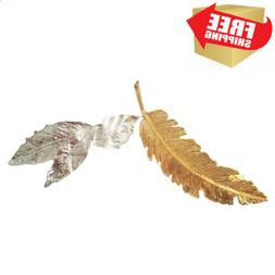 yueton Pack of 2 Antique Style Accessories Feather Leaf Barr