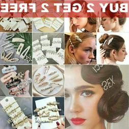 Pearl Hair Clip Barrettes 2019 Fashion For Women Handmade Ha