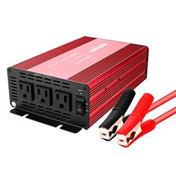 Bapdas 1000W Power Inverter DC 12V to 110V AC Converter with