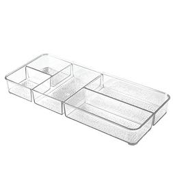 InterDesign Rain Cosmetic Organizer Tray for Vanity Cabinet
