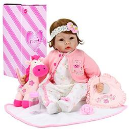 Aori Realistic Baby Doll Lifelike Weighted Baby Reborn Girl