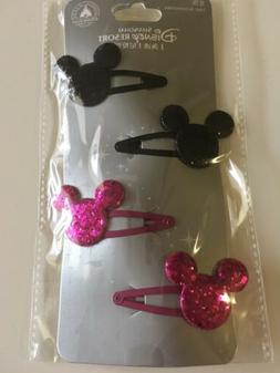 Disney Resort Shanghai Glitter Mickey Head Hair Accessories