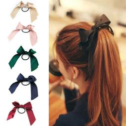 Ribbon Rope Cute Hair Ties Bow Elastic Hair Band Girl Hair A