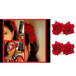 Ever Fairy Rose Flower Hair Clip Comb Slide Flamenco Dancer