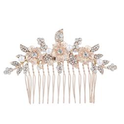 Lux Accessories Rose Gold Crystal Rhinestone Faux Pearl Flow