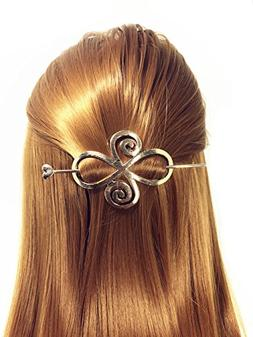 QTMY Round Circle Oval Branches Shaped Hair Pin Clips Hair J