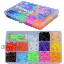 Rubber Bands Loom Band Bracelet Refill Kids Rainbow Craft Cl