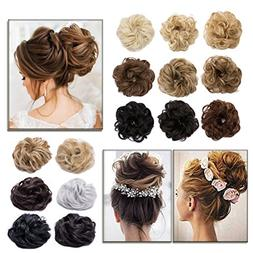 Scrunchy Updo Hair Extensions Wavy Curly Hair Bun Messy Donu