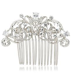 SEPBRIDALS Crystal Rhinestone Hair Side Comb Pins Bridal Wed
